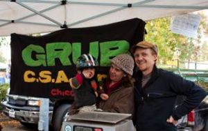 GRUB CSA, small family farm, from left to right: Orin, Francine, Lee. Not pictured is their CSA partner, Michael Shaw