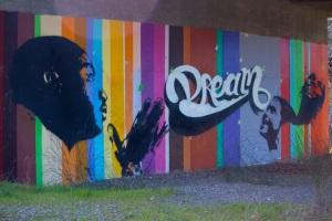 MLK graffiti, Lindo Channel