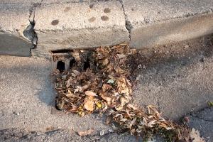 E. Sacramento Ave. storm drain today