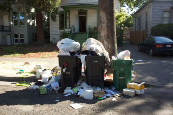 Student trash, last summer