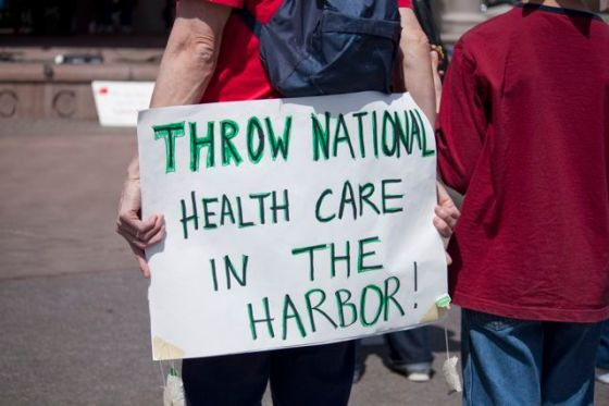 2010 Tea Party rally sign