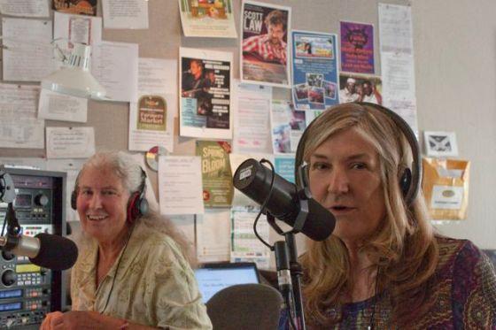 Chris Nelson (left) interviews Laurel Avalon Yorks (right)