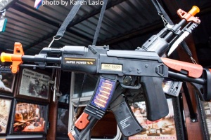 """Toy"" semi-automatic gun for kids. Quote from gun show patron: ""Isn't it cute!"""
