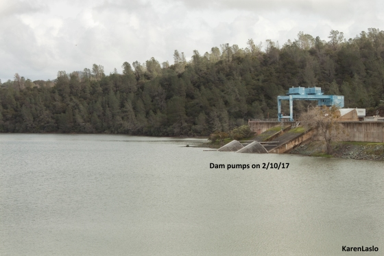 Dam pumps on Feb. 10th, 2017.